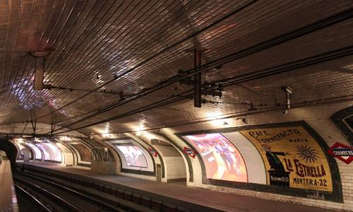 Go to the abandoned metro station of Madrid