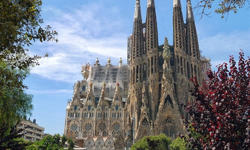 The Sagrada Familia was built to be seen from all points of the city.