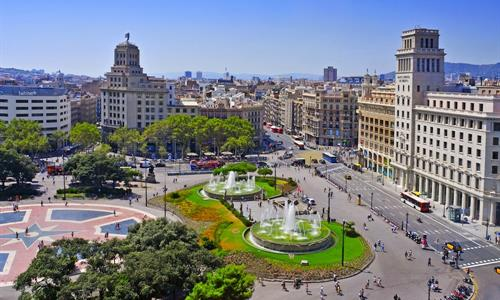 Plaza de Catalunya can be considered the centre of Barcelona.