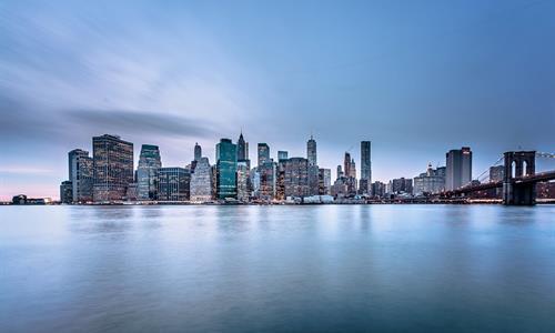 Vista de frente de la hermosa ciudad de Nueva York - Tiqy