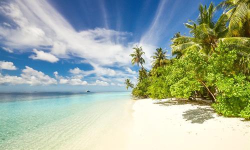Una playa en isla Contadora