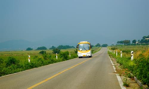 National Bus on The Panama Highway