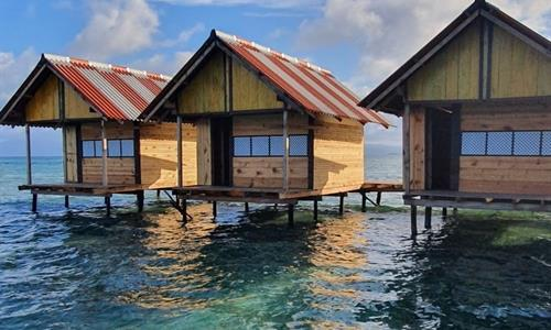 Overwater Bungalows on Waily Island