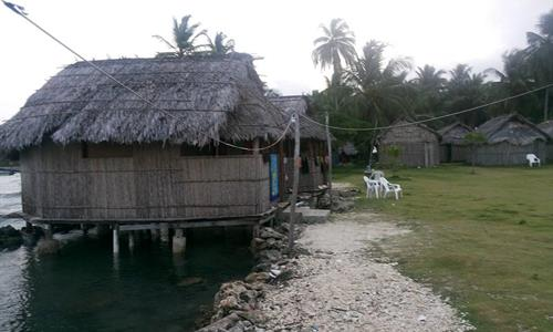 Housing on Cartí Mula Island