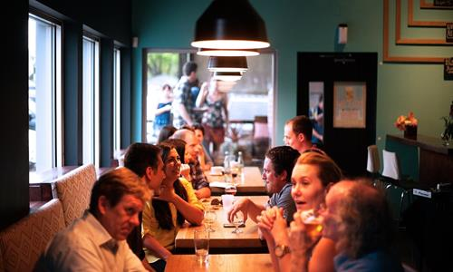 People Eating in a Restaurant