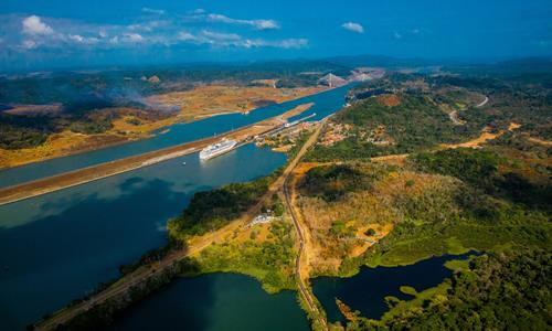 Views of the Panama Canal from a Helicopter Tour