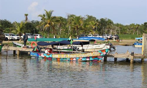 "Drive to the port and then take a ""lancha"" which is a small boat to the islands."