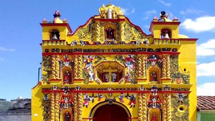 1, Colonial Churches: San Cristóbal, San Andrés Xecul, Salcajá