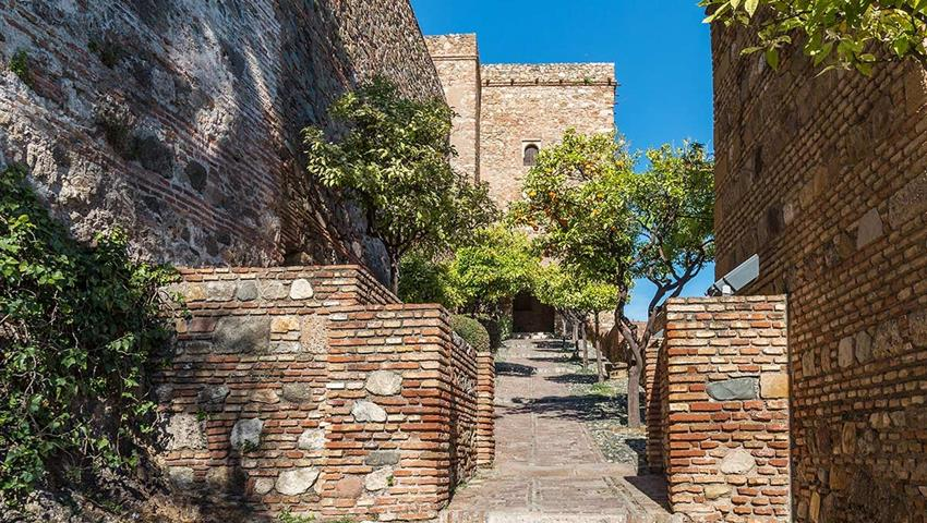 front view of the alcazaba - tiqy, Alcazaba Walking Tour