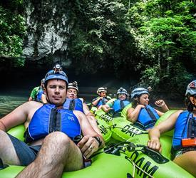 Belize Cave Tubing and Zipline Tour from Belize City