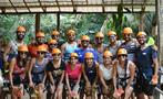 zipline aerial trek group, Belize Cave Tubing and Zipline Tour from Belize City
