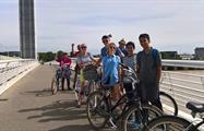 Bordeaux Bike Tour people bridge, Bordeaux Bike Tour