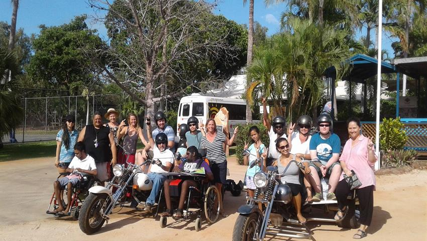 Broome Town Tour group of people, Broome Town Tour