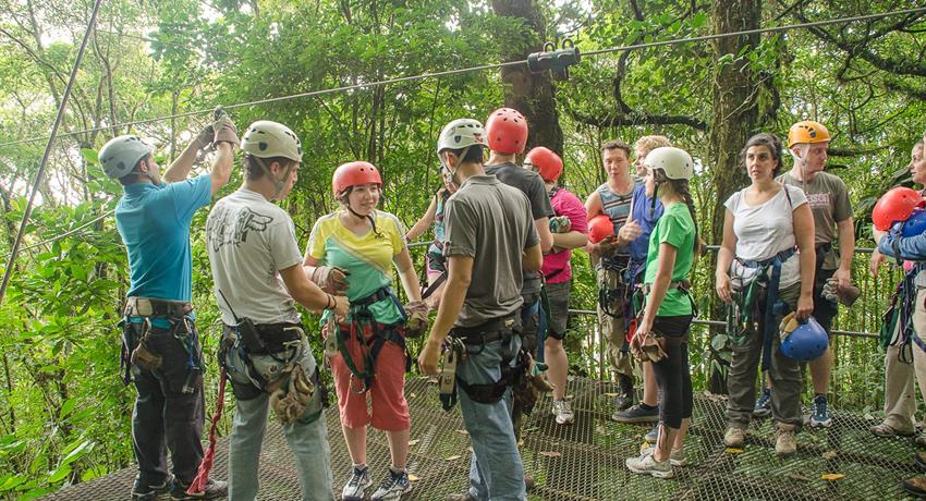 canopy tour group, 13 Lines Canopy Tour