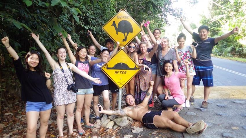 Cape Tribulation Tour signs, Recorrido en Cape Tribulation