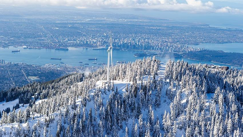 Winter Views, Puente colgante de Capilano y Grouse Mountain