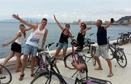 city bike tour happy group, City Bike Tour in Malaga