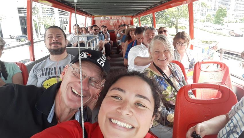 Happy clients in City Tour - Tiqy, Hop-On Hop-Off Bus Tour in Panama City