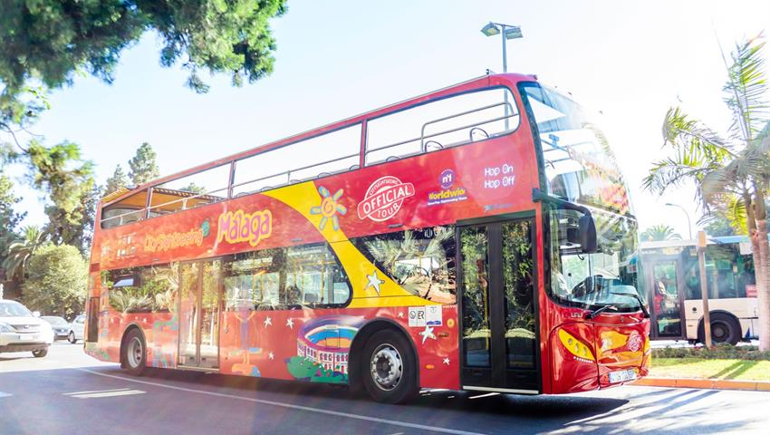 Hop on hop off Sightseeing Duble Decker, City Sightseeing Tour in Malaga