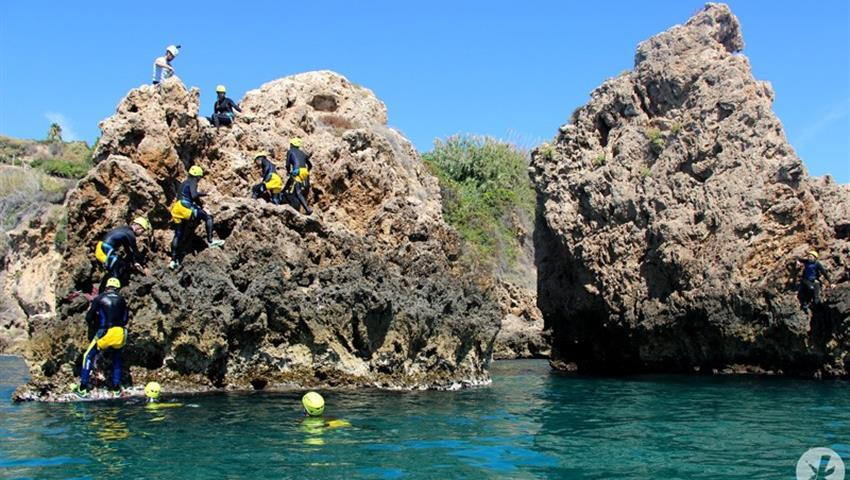 going to the top of the cliff - tiqy, Coasteering in Nerja – Malaga