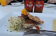Craft Beer and Tasty Tapas Tour estrella and tapa, Craft Beer and Tasty Tapas Tour