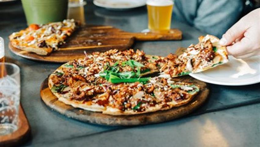 Craft Beer Walking Tour pizza, Craft Beer Walking Tour