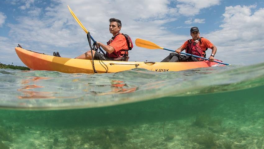Bio Bay bioluminescent kayaking tour kayakers, Laguna Grande Bioluminescent Kayaking Tour
