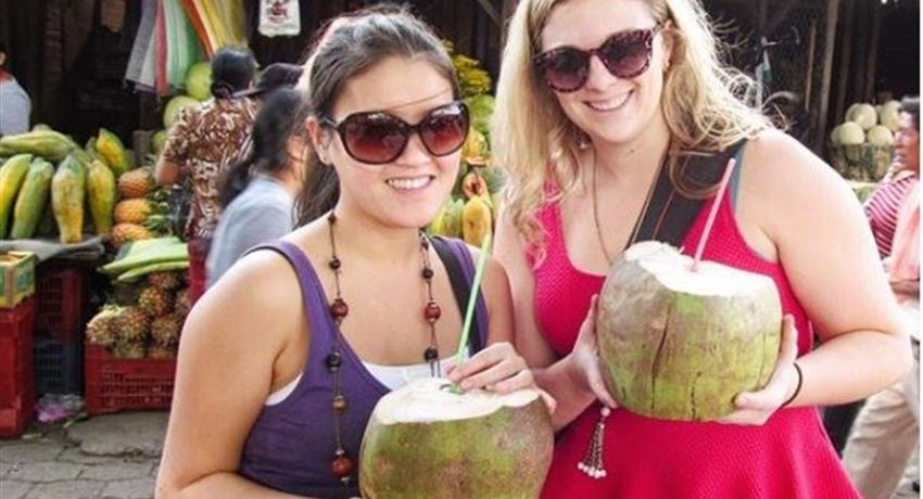 coconut visit to the market antigual food class, Antigua Market Visit and Cooking Class Tour