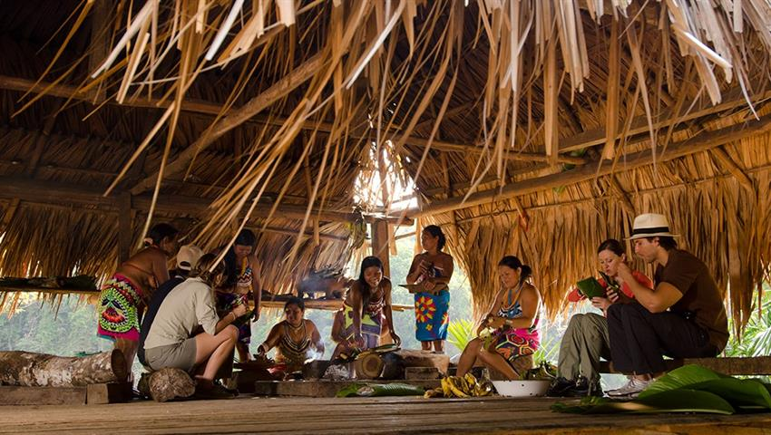 Comida Tradicional., Embera Full Day Tour from Panama City