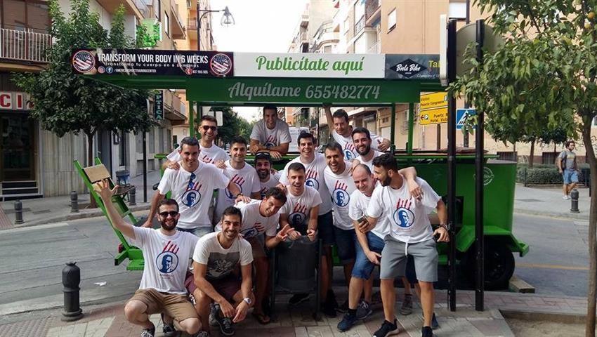 beer bike granada guys, Estandar Option
