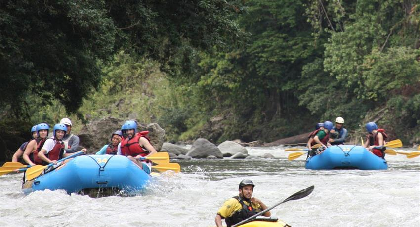 River rafting reventazon, El Carmen Section