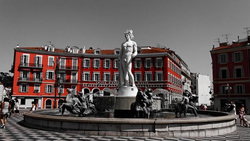 fountain, Free Walking Tour of Nice