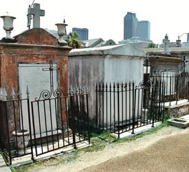 French Quarter and Cemetery