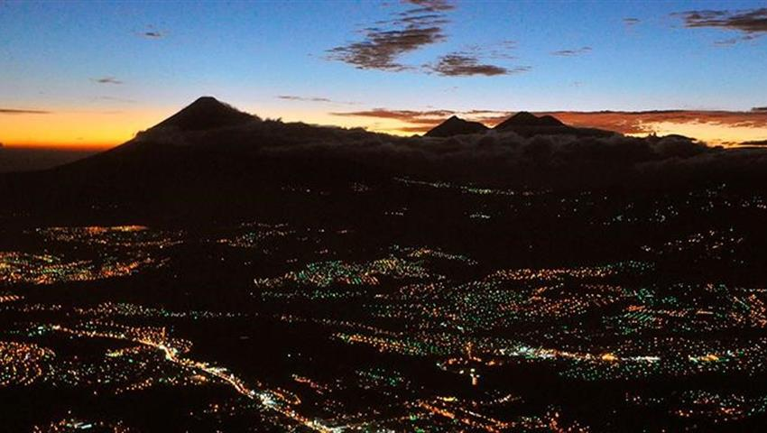 Volcano view at night - tiqy, Full Day Walking Tour in Guatemala City