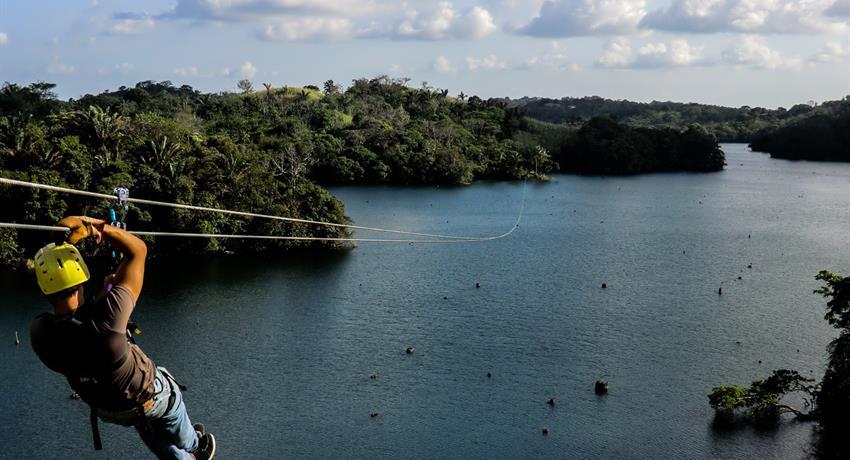 Canopy Man Panama Zip Line, Gatun Lake Canopy Zip Line Tour from Panama City