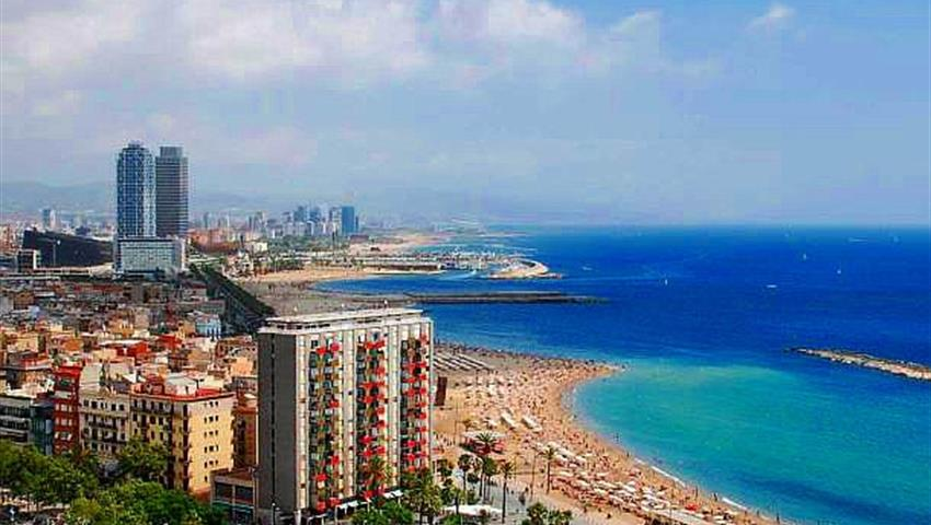 Barcelona Day Tour beach view, Barcelona Day Tour