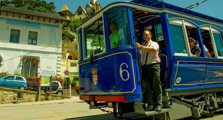 Discover Gaudi Barcelona tour blue train, Discover Gaudi Barcelona Tour