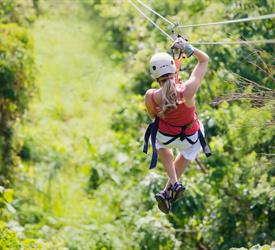 Sky Trek Zip Line and Baldi Hot Springs - Private Tour