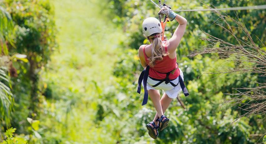 Arenal Volcano Sky Trek, Sky Trek Zip Line and Baldi Hot Springs - Private Tour