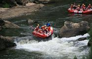 Half Day Rafting Barron River people in tubing, Half Day Rafting Barron River