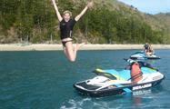 woman jumping tiqy, Hervey Adventure