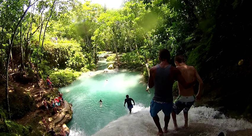 1, Irie Blue Hole and Fire Water