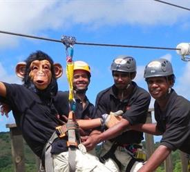Monkey Jungle Zip Line Experience Cave Tour