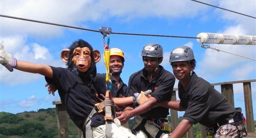 1, Monkey Jungle Zip Line Experience Cave Tour