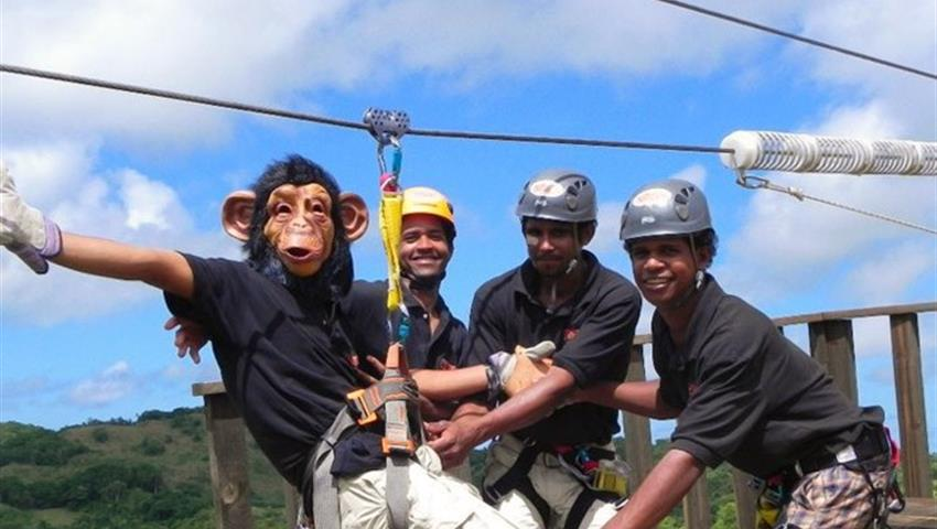 1, Monkey Jungle Zip Line Experience Cave Tour