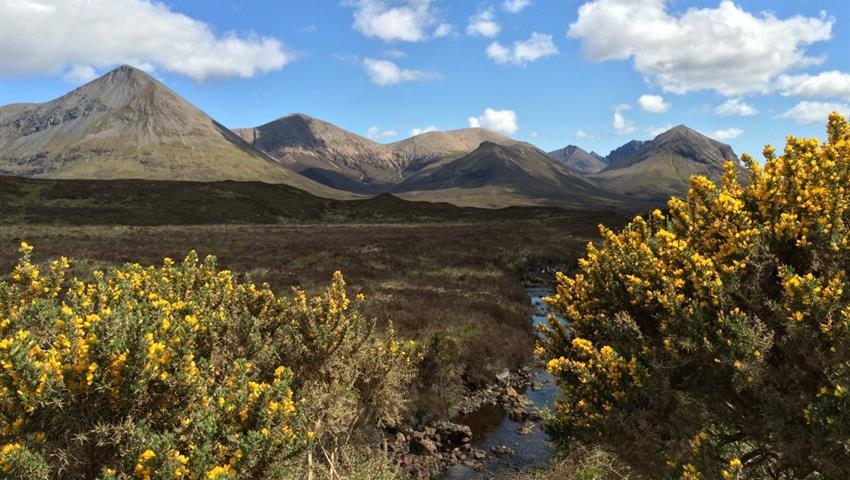 Cuillins-Hills tiqy, Isle of Skye, Eilean Donan Castle