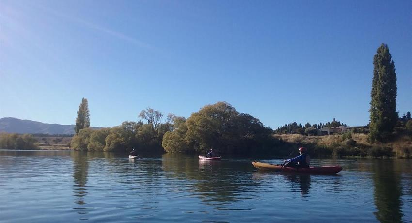 calm water tiqy, Kayak en el Poderoso Clutha