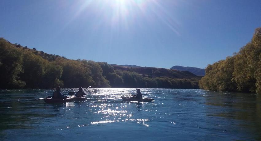 sun tiqy, Kayak en el Poderoso Clutha