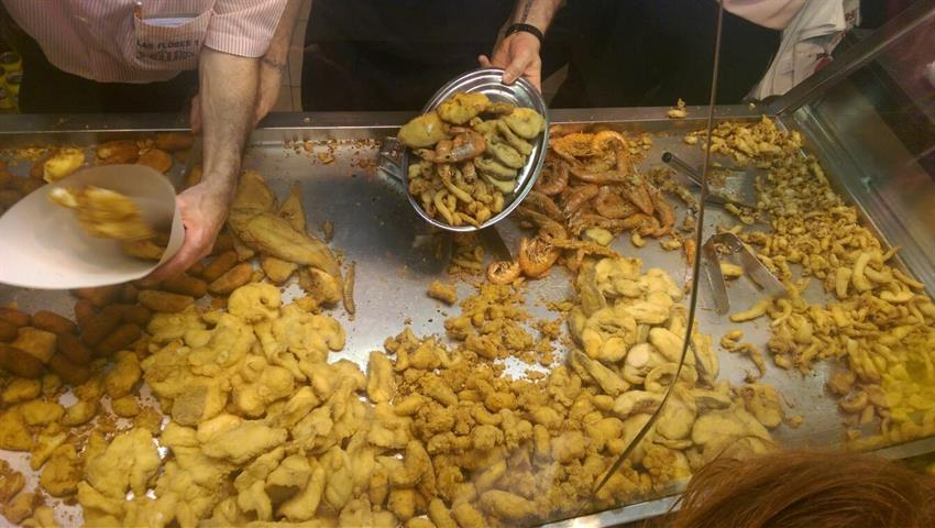 crunchy shrimps - tiqy, Malaga Tapas Tour
