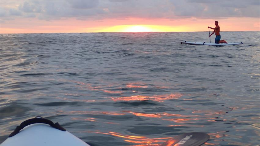 Sunset, Manuel Antonio Nocturnal Paddle Boarding Tour